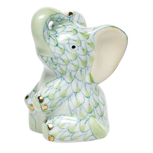 Herend Miniature Figurines (Herend Figurine Miniature Baby Elephant Key Lime Fishnet)