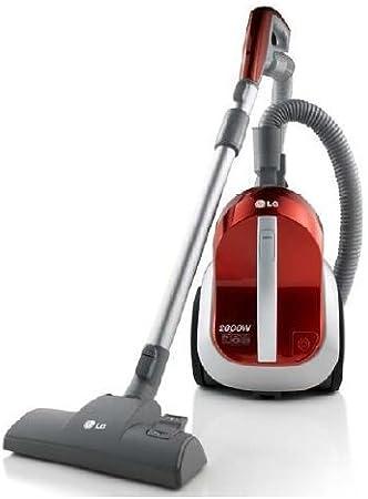 LG - Aspirador Vc6820Nhaq, 2000W, 1.5L (Sin Bolsa), 78Db, Rojo, Filtro Hepa 13 Carbóno, Acc.Cepillo Parket: Amazon.es: Hogar