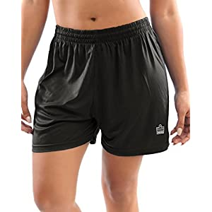 Admiral Club Ready-to-Play Women's Soccer Shorts, Black/White, Small