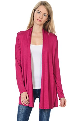 (Pastel by Vivienne Women's Long Sleeve Jersey Cardigan X-Large Magenta)