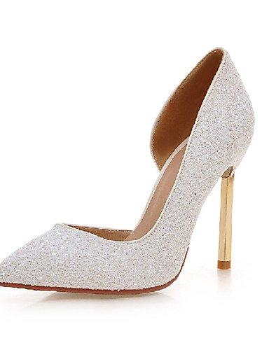GGX/ Damenschuhe-High Heels-Outddor / Büro / Lässig-Kunststoff-Stöckelabsatz-Absätze-Schwarz / Weiß / Silber / Gold golden-us5 / eu35 / uk3 / cn34