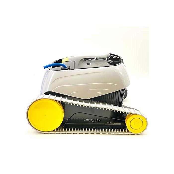 41k%2BqnPOs9L Novedad 2019. Producto exclusivo Limpieza de fondo, paredes y línea de flotación con 15 metros de cable Aspiración y cepillo activo, con filtro cesta Easy-Clean de fácil acceso y limpieza, incluye filtros de primavera y ultrafinos