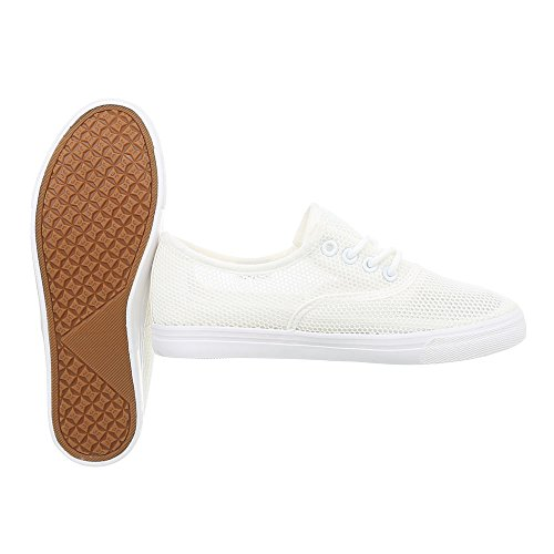 Chaussures Pour Femmes Sneaker Flat Sneakers Low White Taille 39