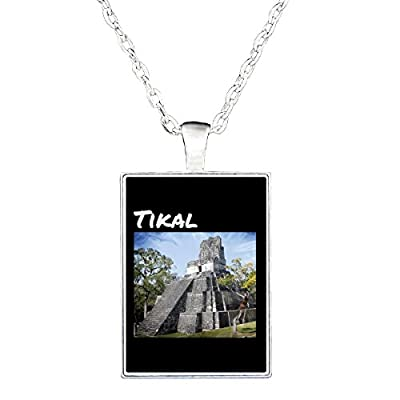 Tikal Temple Guatemala Mayan Ruins - Necklace
