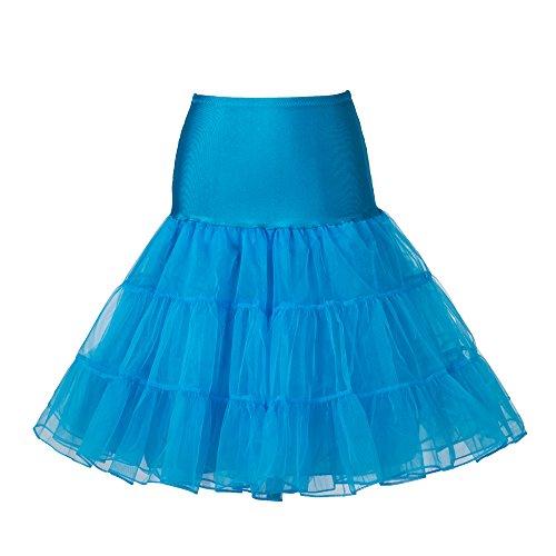 """Boolavard 50's 1950 26"""" Rockabilly Petticoat Sottogonna Gonna Retro Annata Altalena Rosso, Nero, Bianco, Blu, Rosa Azzurro"""