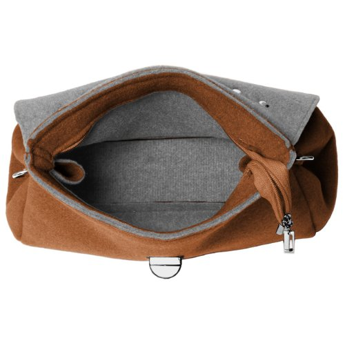 CASPAR Fashion - Bolso de asas para mujer marrón marrón