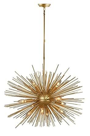 Decomust 30 Inch Astra Sputnik Satellite Pendant Light Chandelier Gold Ceiling Light Fixture Rod