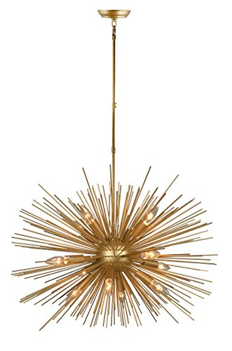 Decomust 30 Inch Astra Sputnik Light Satellite Pendant Light Sputnik Chandelier Gold Ceiling Light Fixture Rod (Satellite Fixture)
