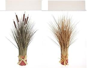 Transpac Imports Raffia Grass Stacks, Assorted Pair