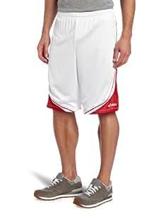 Asics Men's Player 10 Short (White/Red, Small)