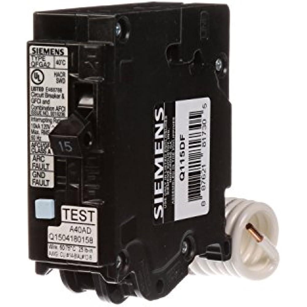 Q115df 15 Gfci Dual Function Circuit Breaker  Plug Load Center Style  U0026