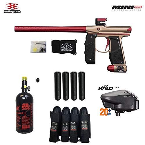 Empire Mini GS Advanced Paintball Gun Package - Dust Tan/Red