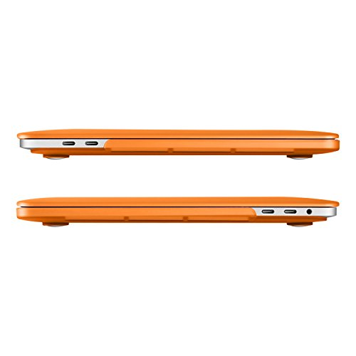 UESWILL MacBook Pro 13 inch Case 2018 & 2017 & 2016 Release, A1989/A1706/A1708, Matte Hard Case Cover for Newest MacBook Pro 13 inch with/Without Touch Bar Touch ID, Orange by UESWILL (Image #4)