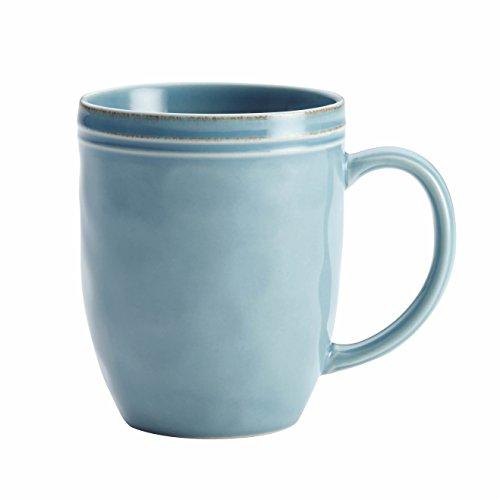 Rachael Ray Cucina Dinnerware Stoneware Mug, 12-Ounce, Agave Blue