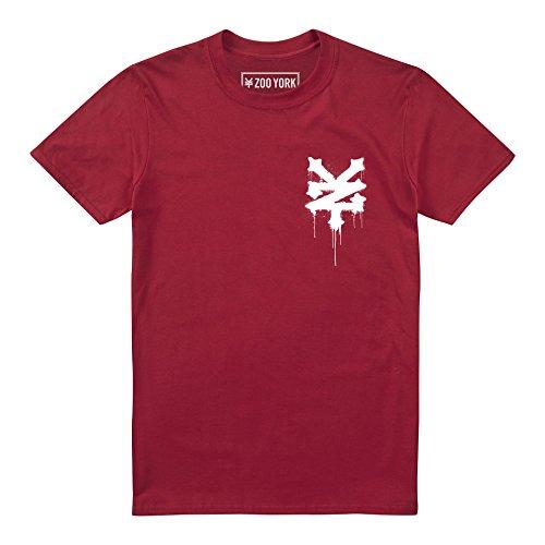 shirt Uomo cherry Red New Stencil T Zoo Red York I4qWX