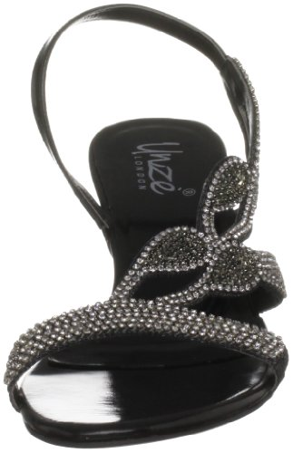 Unze Evening Sandals L18185W - Sandalias para mujer Negro