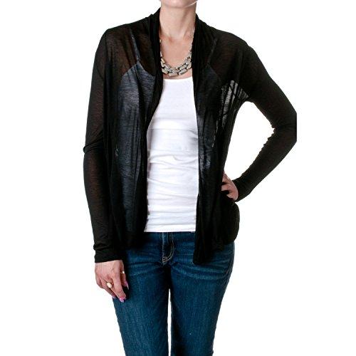 Hollywood Star Fashion Womens Drape Pockets Light Weight Flyaway Cardigan Shawl