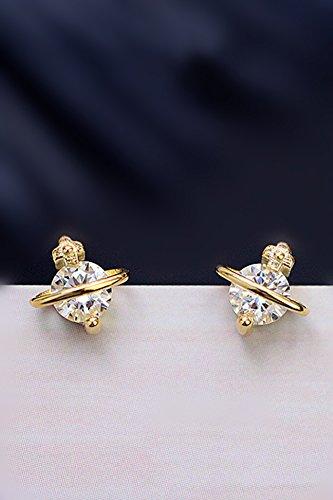 s925 fine Silver Asteroid 18k Zircon Cute Earrings earings Dangler Eardrop Women Girls Unique Gift Woman