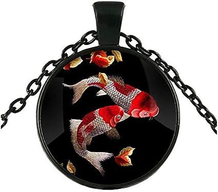Koi Fish Collier Pendentif carpes ko/ï Art asiatique Collier Art japonais Koi Fish Art