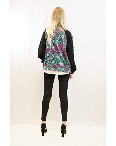 Exceptional Products - Chaqueta - para mujer PAISLEY FLORAL