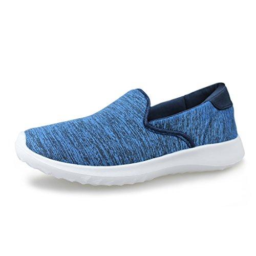 Hawkwell Women's Flexible Slip-On Flat,Blue Fabric,8 M (Winsome Light)