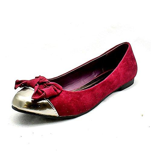 arco con d'oro Porpora puntale Stripe basse scarpe pompe 8fqYwUx