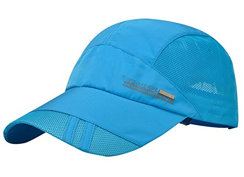 Feoya Men's Summer Outdoor Sport Outdoor Sports Mesh Hat Running Visor Sun Cap (Golfers Sun Protection)