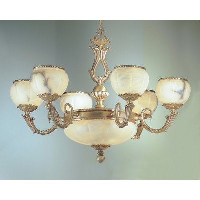 Alexandria I 9 Light Chandelier Crystal Type: Without Crystal, Finish: Victorian Bronze