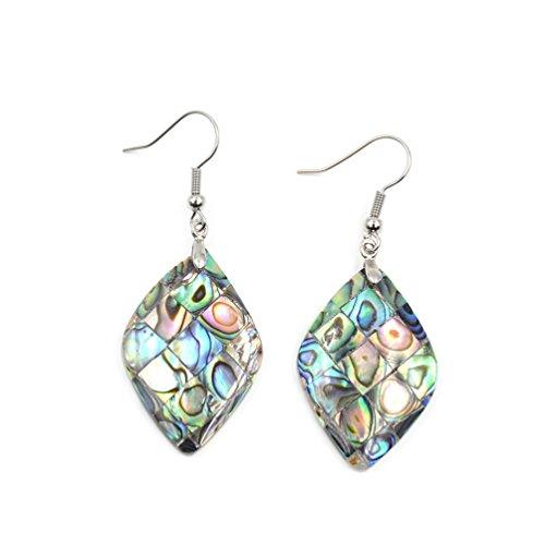 Natural Abalone Shell Earrings - 8