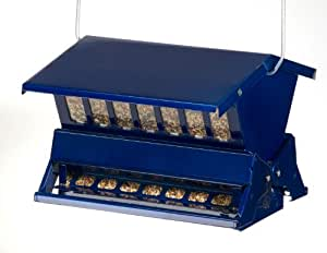 Woodlink Absolute II Electric Blue  Squirrel Resistant  Bird Feeder  Model 7537