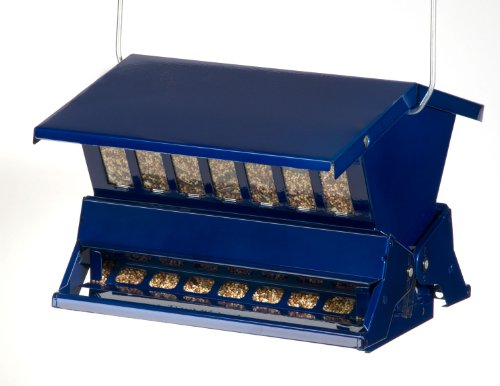 Woodlink Absolute II Electric Blue  Squirrel Resistant  Bird Feeder  Model 7537