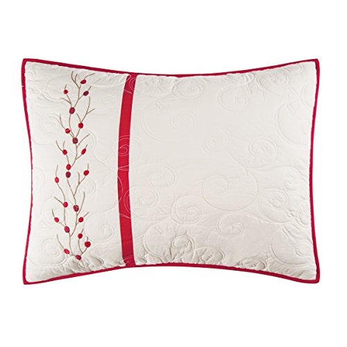 C & F Enterprises Berry Wreath Standard Holiday Sham - Berry Standard Sham