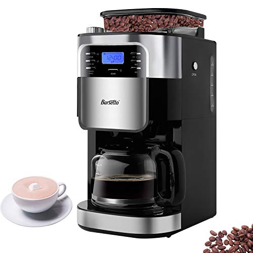 Barsetto Grind and Brew Automatic Coffee Maker with Digital Programmalbe Drip Coffee Machine,10-Cups,Black ()