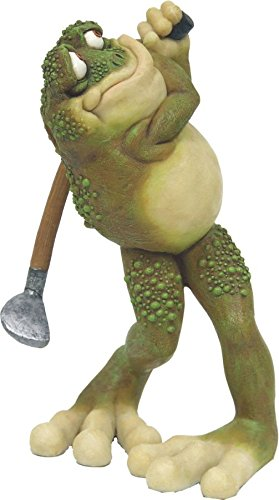 C&F Garden Decor Outdoor Polyresin Golfer Frog Statue G184 7.25″H Review