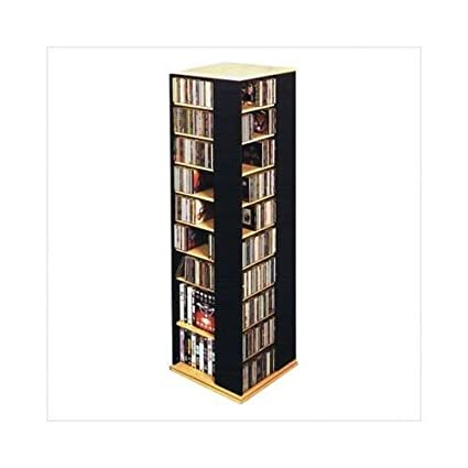 Exceptionnel Leslie Dame CD 1040C Revolving CD / DVD Storage Tower, Oak With Black