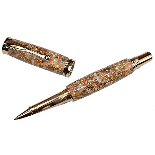 Pebble Beach Hand Crafted Rollerball Pen by ArtisanStreet