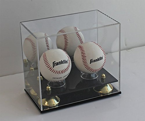 DisplayGifts Pro UV Baseball Display Case Holder Stand (2-Ball Holder, Acrylic Stand)