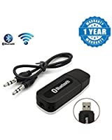 Drumstone Bluetooth Stereo Adapter Audio Receiver 3.5MM Music Wireless Hifi Dongle Transmitter for Android/iOS Devices (Color may vary)