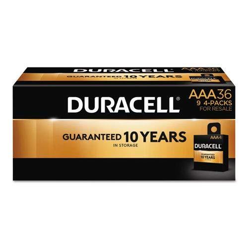 Duracell MN24P36 CopperTop Alkaline Batteries, AAA, 36/PK by MOT2