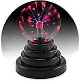 KssFire Mini Plasma Induction Ball Lamp Magical Ball Lamp Sphere Lightning Lamp Funny Gift for Kids Touch Sensor Light Suitable for Party,Home, Bar, Teahouse, Restaurant, Coffee Shop, Dance Hall