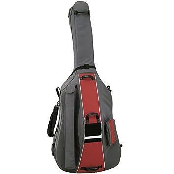 Amazon.com: FUNDA CONTRABAJO 3/4 CON RUEDAS REF.LBS 190x67x52x20cm. color Gris/Rojo: Musical Instruments