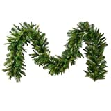 Vickerman Unlit Cashmere Pine Garland with 240 Tips, 9-Feet, Green