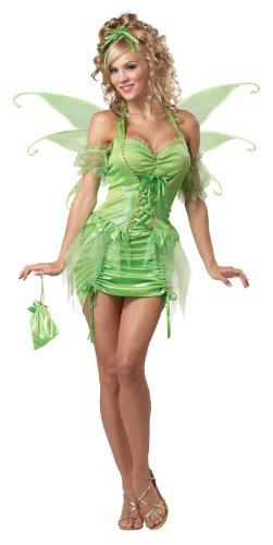 [California Costumes Women's Eye Candy - Tinkerbell Fairy Adult, Green, Medium] (Adult Tinkerbell Fairy Costumes)