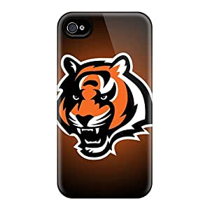 Anti-Scratch Hard Phone Covers For Apple Iphone 4/4s (smN1737AAZB) Support Personal Customs High Resolution Cincinnati Bengals Pattern
