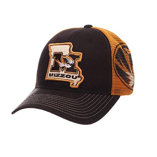 NCAA Missouri Tigers Men's Interstate Trucker Cap, Adjustable, Black ()