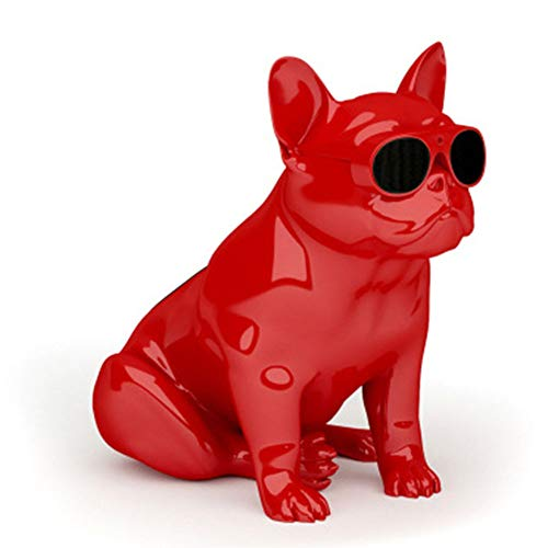 - OUYAWEI Fashion Mini HiFi Bulldog Wirless Bluetooth Super Bass Speaker Stereo Sound Box Support FM Radion TF MP3 Player (Whole Body Dog red)