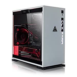 CLX SET Gaming PC – Intel i7 8700K 3.7GHz 6-Core, 16GB DDR4, GeForce GTX 1070, 240GB SSD + 3TB HDD, Win 10 Home, White/Red