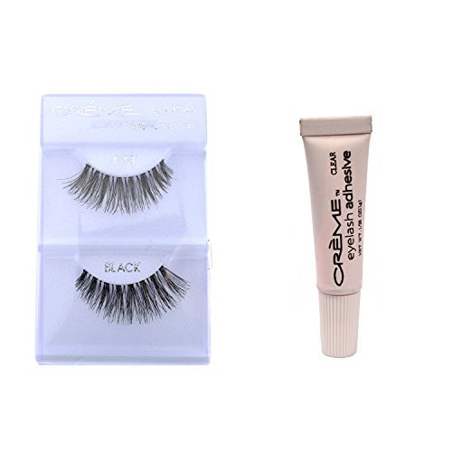 12 Pairs Crème 100% Human Hair Natural False Eyelash Extensions #43