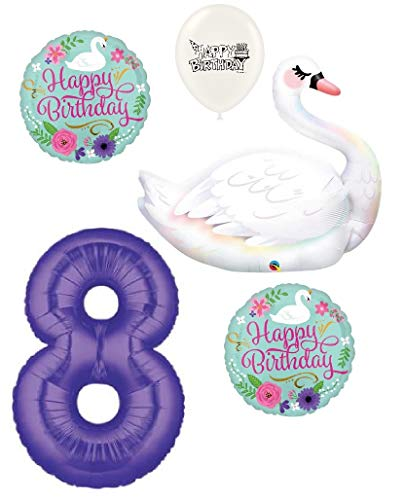 Swan Graceful - Ultimate Graceful Swan Party Event Bouquet of Balloons (8th Birthday)