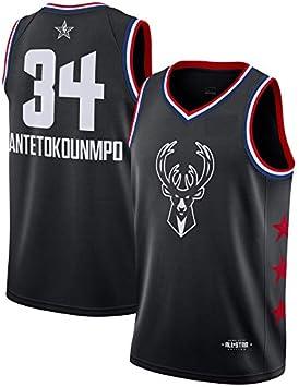 Oquta Giannis Antetokounmpo All Star Basketball Jersey Black XS to ...